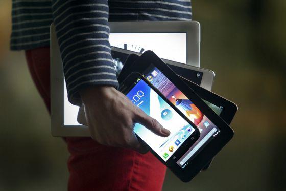 Del iPad de 9,7 pulgadas a un móvil de 5,5.