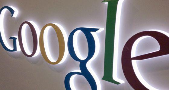 Logo de Google en una tienda de electrónica.