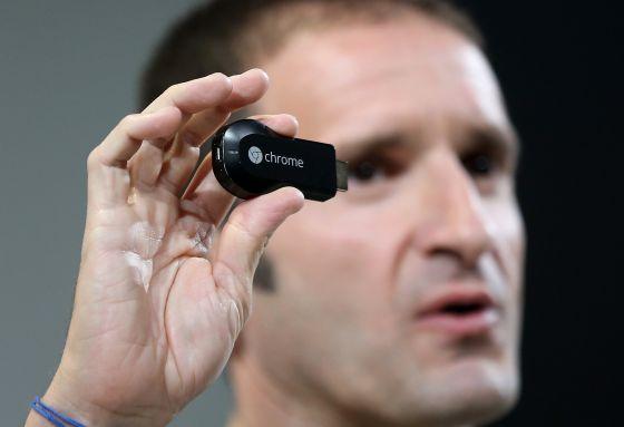 El nuevo conector de TV Chromecast.