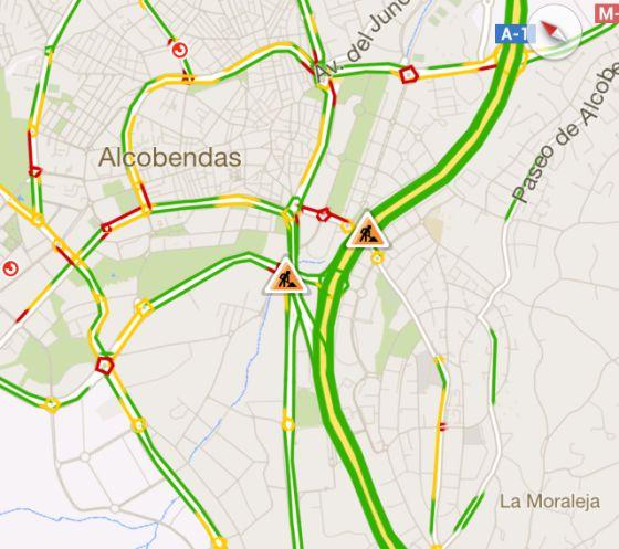 Google Maps incorpora el tráfico en tiempo real