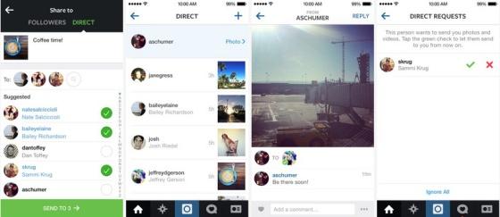 Instagram Direct permite compartir el contenido solo con algunos contactos.