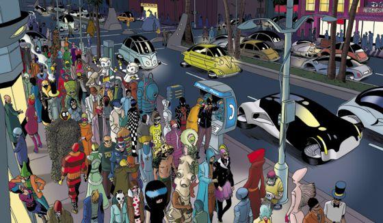 Una imagen del cómic 'The privat eye'.
