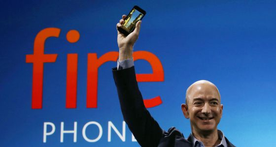 Jeff Bezos presenta Fire Phone.