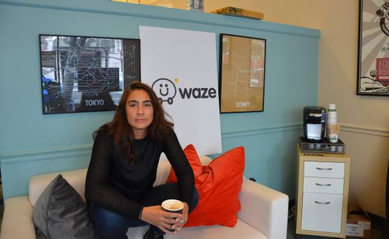 Di-Ann Eisnor en la antigua sede de Waze en Palo Alto.
