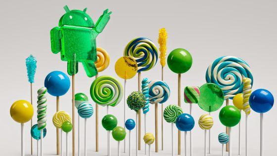 Android Lollipop, piruleta en español, la última versión del sistema operativo de Google.