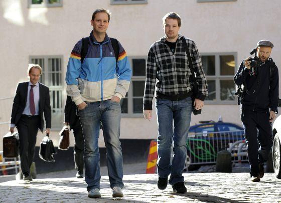 Dos de los cuatro cofundadores de The Pirate Bay, Peter Sunde y Fredrik Neij, en una imagen de archivo.