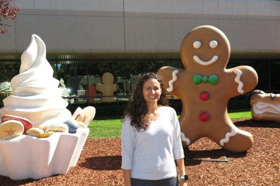 Carolina Parada en el edificio dedicado a Android en la sede de Google.