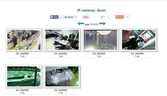 Captura de pantalla de la web rusa que muestra las imágenes de 'webcam' españolas.