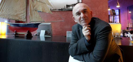 Peter Molyneux, durante la entrevista, ayer en Bilbao.