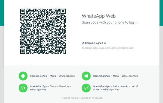 Un código QR para vincular el servicio de mensajería del móvil al ordenador.