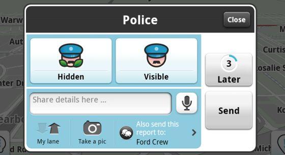 A la policía no le gusta Waze