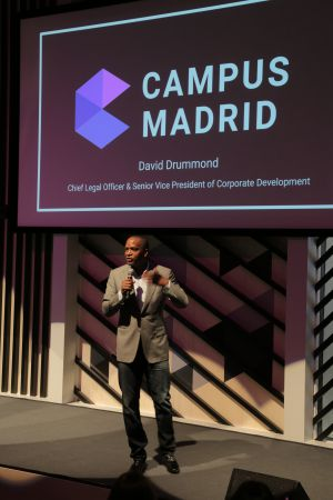 David Drummond, vicepresidente de Google, en la presentación del Campus Madrid.