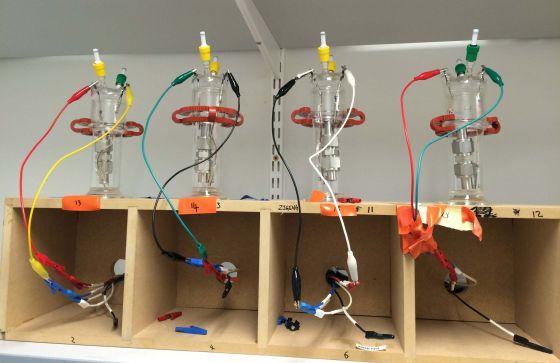 Baterías experimentales de aire-litio que podrán suministrar energía a un vehículo eléctrico
