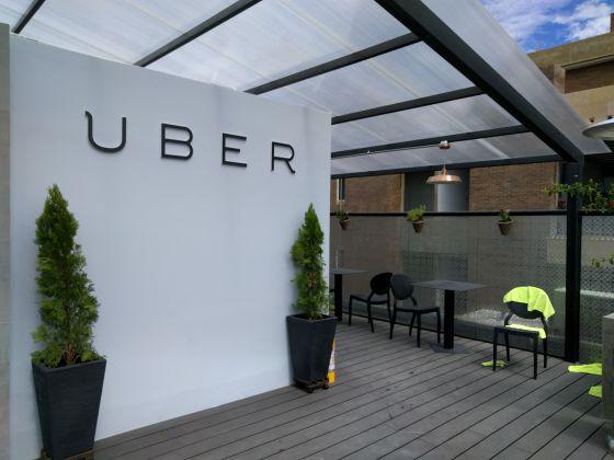 Terraza de la oficina de Uber en Bogotá.