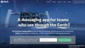 Portada de la web de Slack, la aplicación de colaboración entre equipo de trabajo.