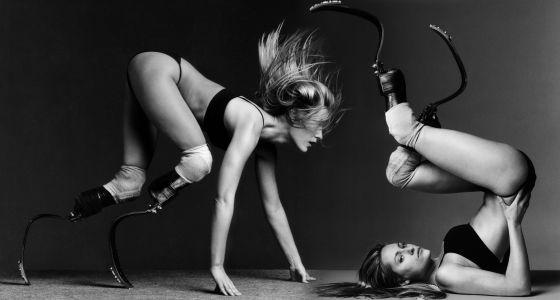Retrato de la atleta norteamericana Aimee Mullins.