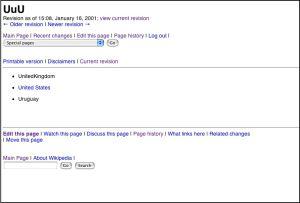 UuU es el primer artículo que se escribió en Wikipedia.