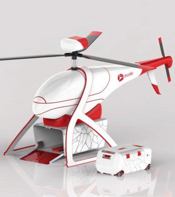 Prototipo del dronde DronLife, destinado a transporte de órganos.