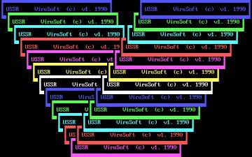 El virus Hymn reproducía molestas ventanas de texto sobre la pantalla atribuyéndolas a la URSS.