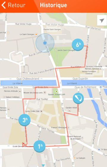 Estas aplicaciones de GPS permiten visitar el recorrido que ha realizado el niño a lo largo del día.