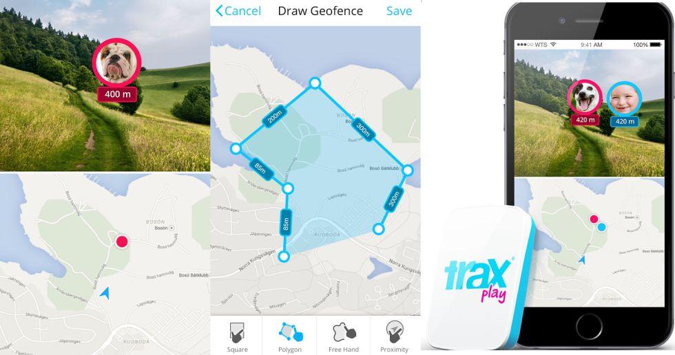 Estos rastreadores GPS permiten establecer perímetros de seguridad.