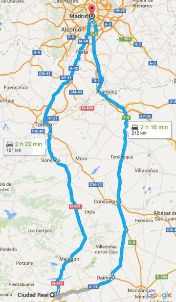 ¿Qué carretera es mejor para ir de Madrid a Ciudad Real?