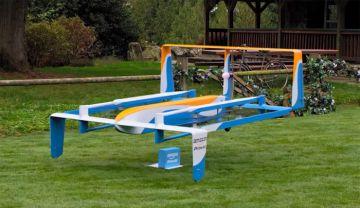Prototipo de dron de envío del proyecto Prime Air.