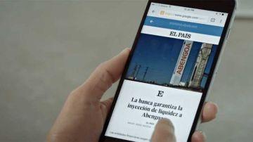 Captura de la aplicación para leer EL PAÍS.