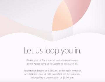 Invitación enviada por Apple a EL PAíS.