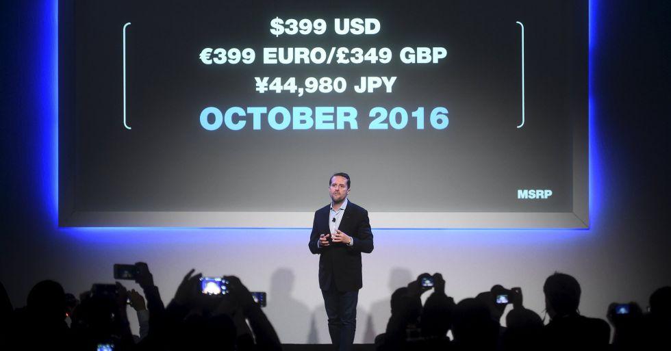 Andrew House, consejero delegado de PlayStation, durante la presentación en San Francisco.