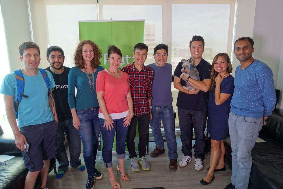 El equipo de Platzi durante su estancia en Y Combinator.