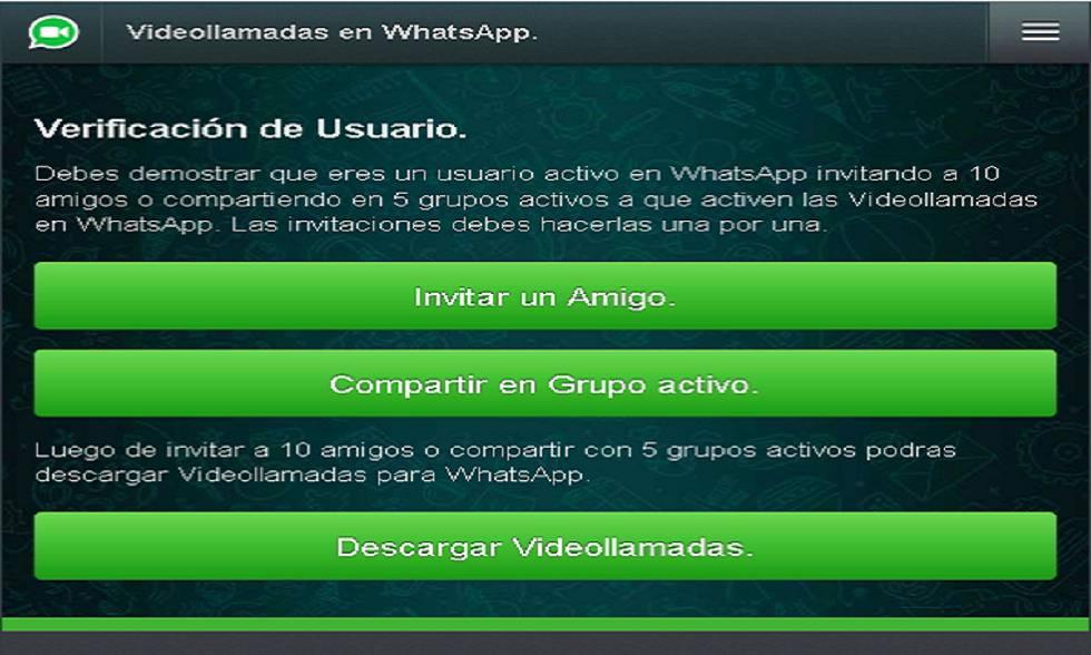 Fraude en un supuesto servicio de videollamadas para Whatsapp