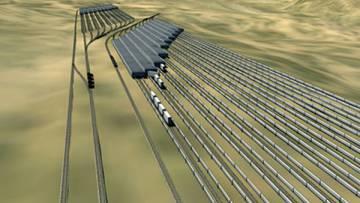 Ares consiste, básicamente, en hacer que un tren recorra unos 8 kilómetros de vía subiendo y bajando una colina.