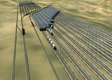 Un tren cargado de rocas como forma de almacenar electricidad
