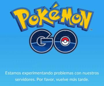 Aviso de problemas en los servidores de 'Pokémon Go'.