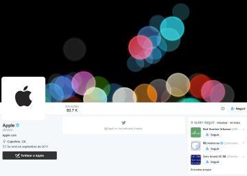 Apple activa su cuenta de Twitter a unos días de la presentación del iPhone 7