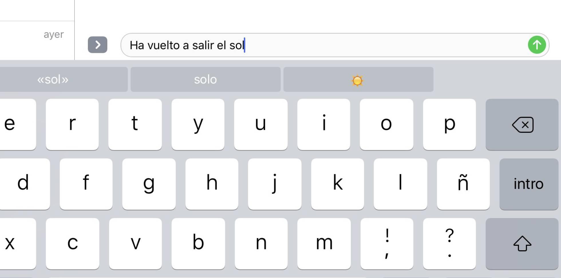Ejemplo de chat en iOS 10. / elpais.com
