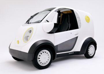 Un pequeño furgón de reparto eléctrico e impreso en 3D