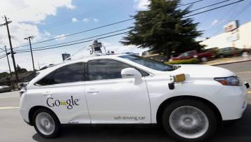 Uno de los coches sin conductor de Google.