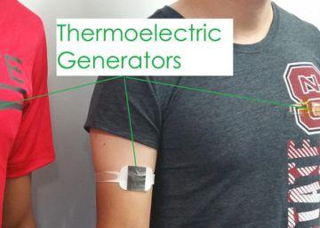 Un parche convierte el calor de tu cuerpo en electricidad
