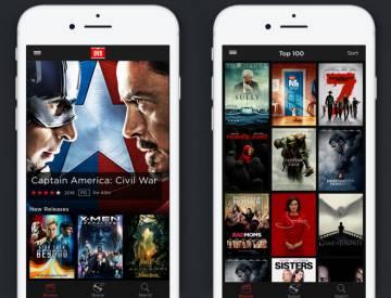 Aplicación de alquiler de discos en iPhone.