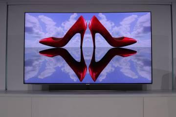 La nuevo Samsung QLED TV en la presentación en el CES.