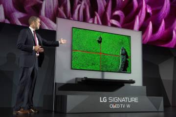 La LG Signature OLED TV W, presentada ayer en CES.