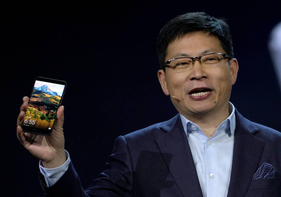 Richard Yu, consejero delegado de Huawei, durante de CES.