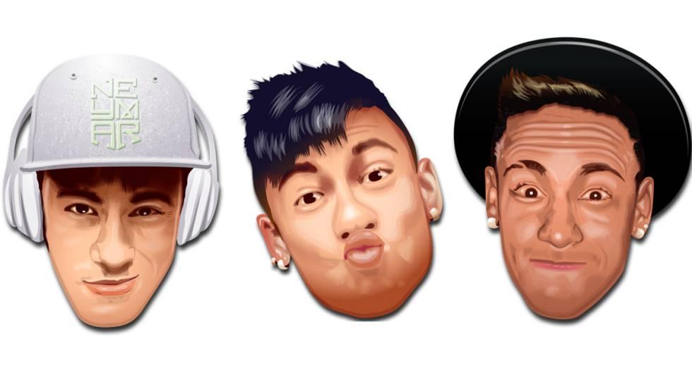 Emoticons com a imagem de Neymar.