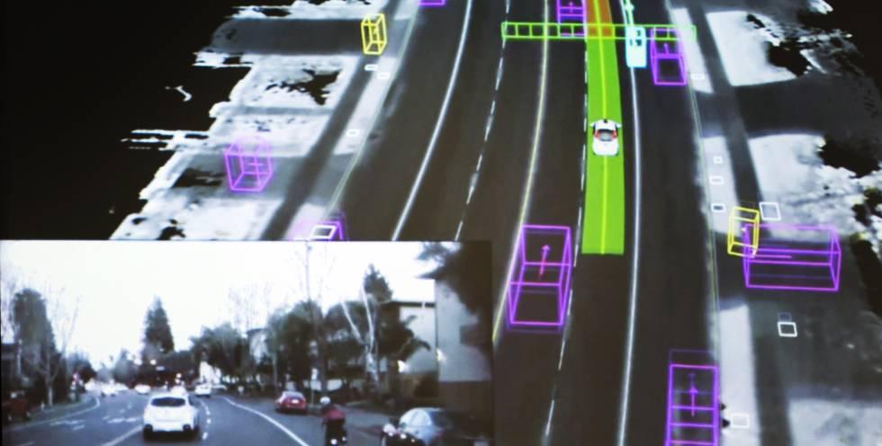 El coche autónomo hablará con los demás actores del tráfico y las infraestructuras (señales, paneles informativos…) a través del Internet de las cosas y procesará la información en tiempo real para tomar la decisión más apropiada al momento.