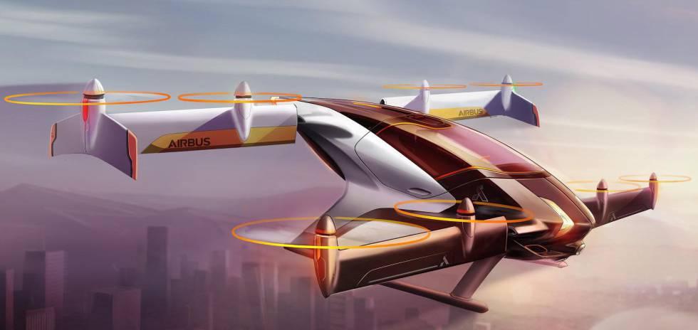 El fabricante de aviones Airbus está trabajando en el diseño de un coche volador, el proyecto Vahana.