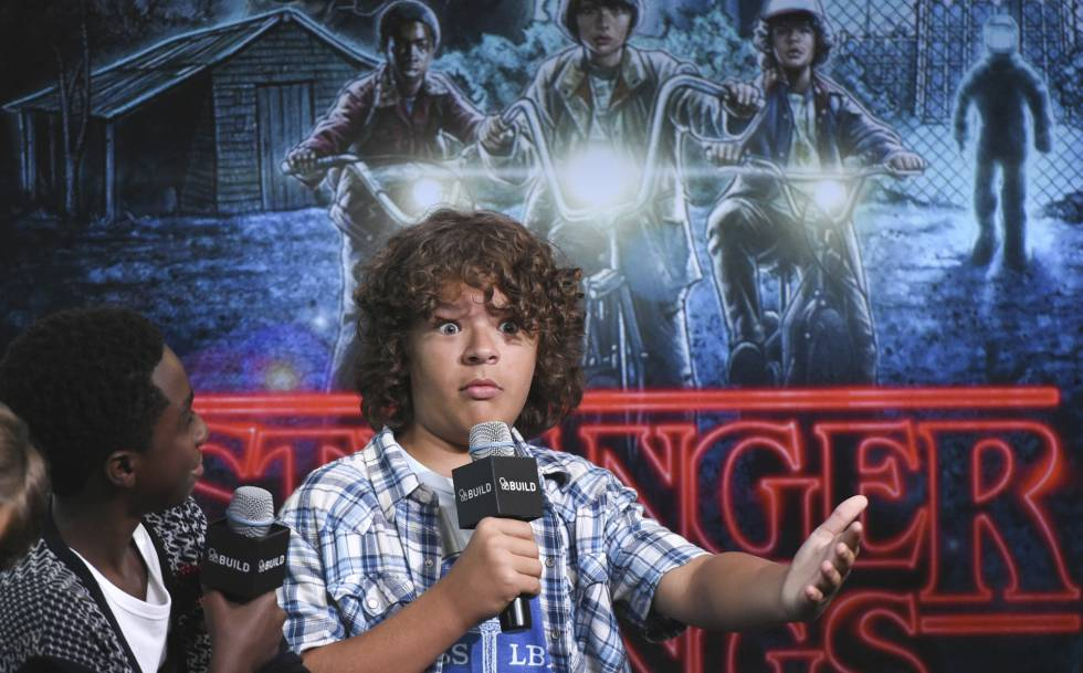 Actors de la popular sèrie de Netflix, 'Stranger Things'.