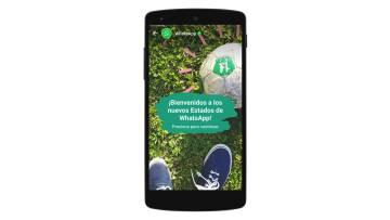 WhasApp anuncia en la aplicación los nuevos estados.