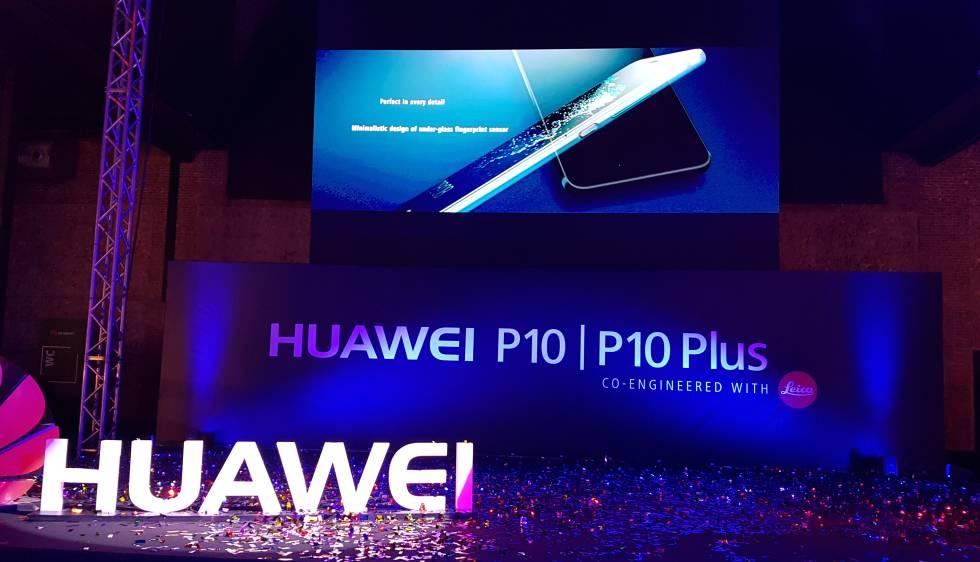Un momento de la presentación del Huawei P10 en Madrid.